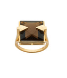 Karen Walker Ballistic Ring - 9ct Gold, Smokey Quartz