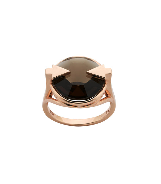 Karen Walker Smokey Quartz Navigator Ring