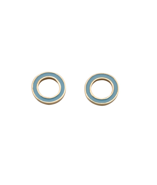 KAREN WALKER ORBIT ENAMEL STUDS GOLD