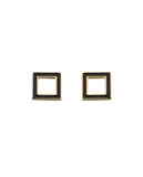 KAREN WALKER IGNITION ENAMEL STUDS GOLD