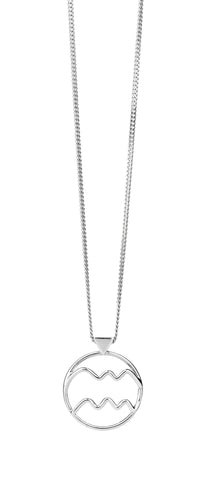 KAREN WALKER AQUARIUS NECKLACE SILVER