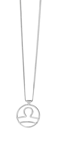 KAREN WALKER LIBRA NECKLACE SILVER