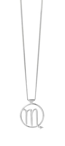 KAREN WALKER SCORPIO NECKLACE SILVER