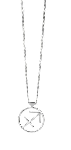 KAREN WALKER SAGITTARIUS NECKLACE SILVER