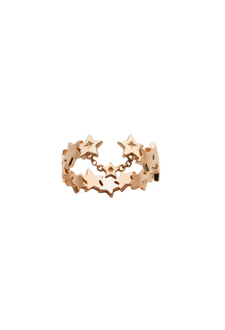 KAREN WALKER 9CT ROSE GOLD SUPERNOVA RING