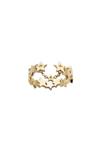 KAREN WALKER 9CT YELLOW GOLD SUPERNOVA RING
