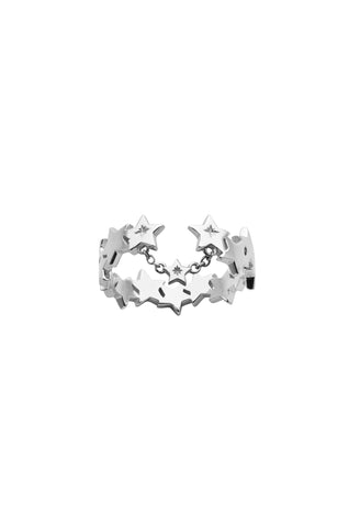 KAREN WALKER SILVER SUPERNOVA RING