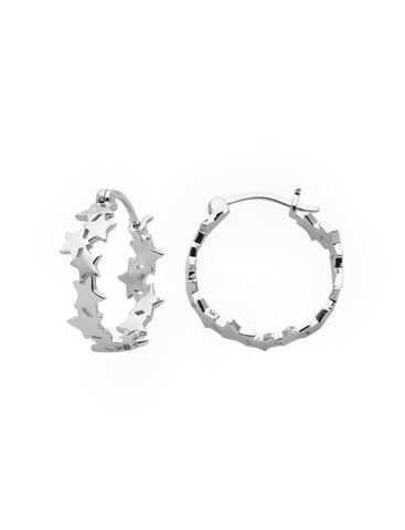 KAREN WALKER SILVER SUPERNOVA HOOPS