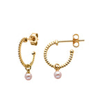 Karen Walker Wisdom Pearl Hoops - 9ct Gold, Pearl