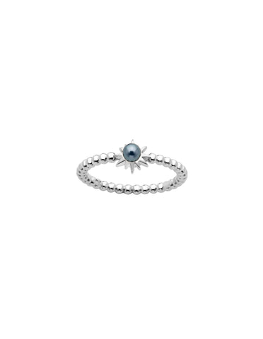 Karen Walker Temptation Ring - Silver, Pearl