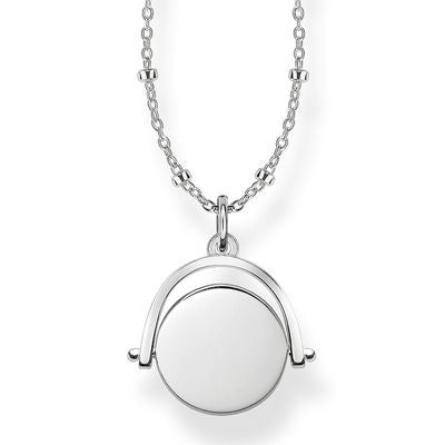THOMAS SABO SPINNING ENGRAVEABLE COIN PENDANT