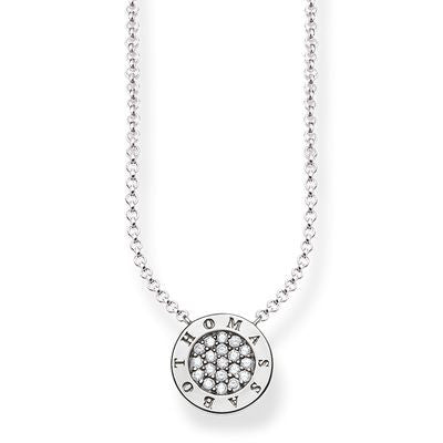 "THOMAS SABO GLAM AND SOUL NECKLACE ""CLASSIC PAVÉ"" STERLING SILVER"