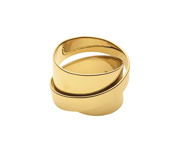 Dyrberg/Kern Louie Shiny Gold Ring - Size 3
