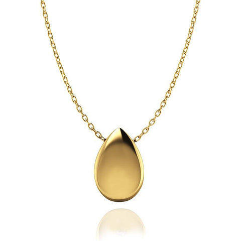 Love In A Jewel Love Drop Pendant - 9ct Yellow Gold, Plain