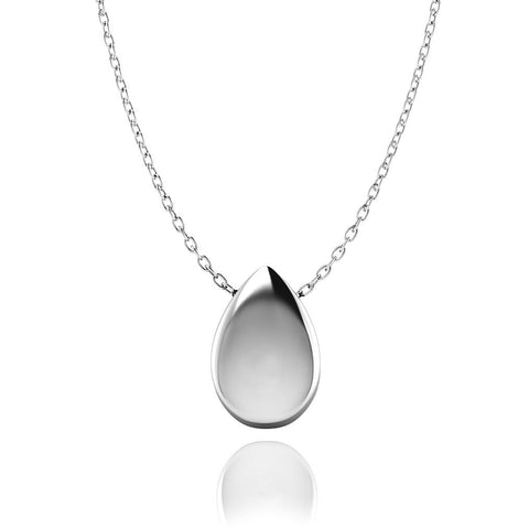 Love In A Jewel Love Drop Pendant - Silver, Plain
