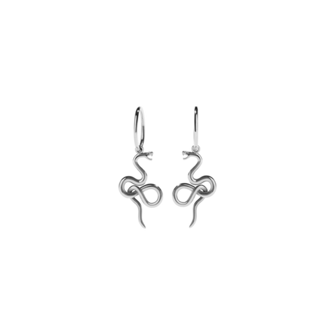 Meadowlark Medusa Endless Hoop Pair - Sterling Silver