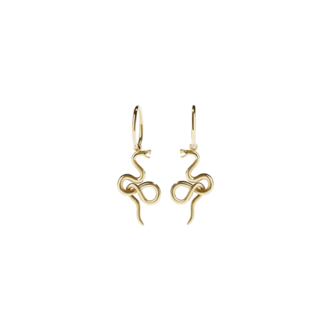 Meadowlark Medusa Endless Hoops Pair - Gold Plated