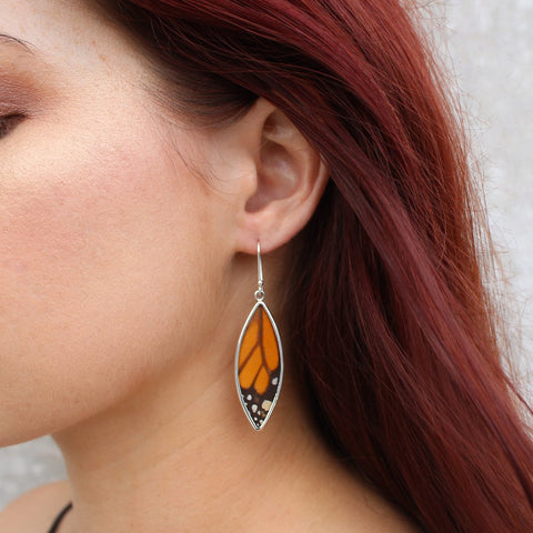 Nick Von K Monarch Butterfly Wing Earrings