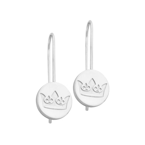 Napoleon Sterling Silver Crown Earrings