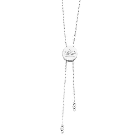 Napoleon Sterling Silver Crown Lariat Necklace