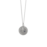 Meadowlark Amulet Strength Necklace - Silver & Blue Sapphire