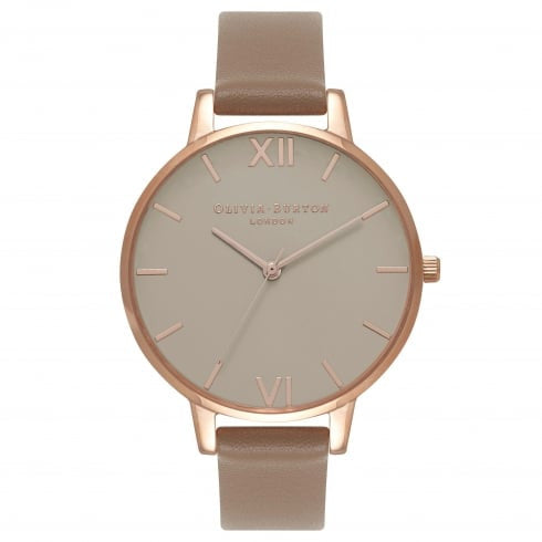 Olivia Burton Greige Dial, Taupe & Rose Gold Watch OB16BD91