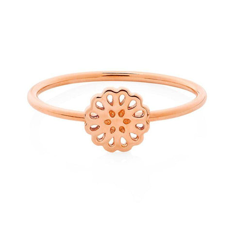 Boh Runga Lotus Ring - 9ct Rose Gold, Size Q