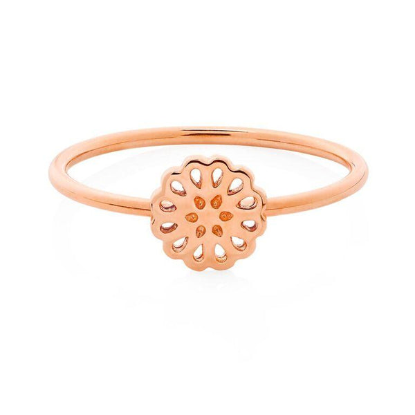 Boh Runga Lotus Ring - 9ct Rose Gold, Size K