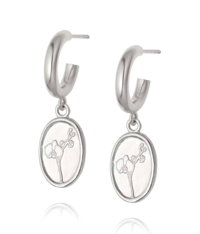 Daisy London - Orchid Drop Earrings - Silver