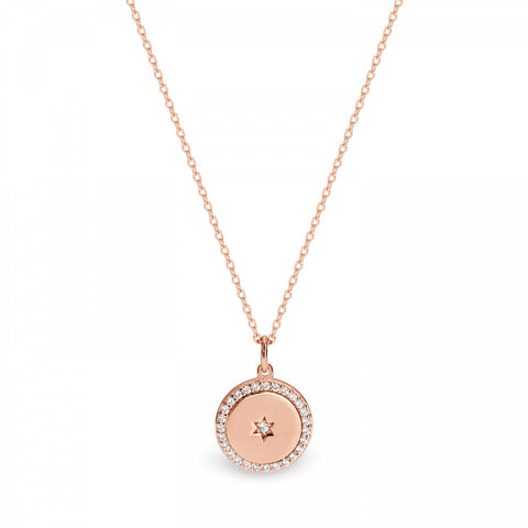 Georgini Libra Pendant - Rose Gold