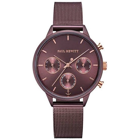 Paul Hewitt Everpulse Watch - Dark Mauve Mesh