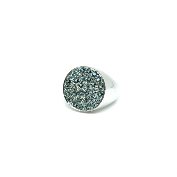 Karen Walker Pave Set Topaz Ring