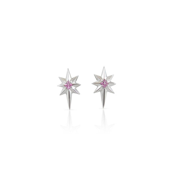 Nick Von K Little Star Earrings - Pink Sapphire