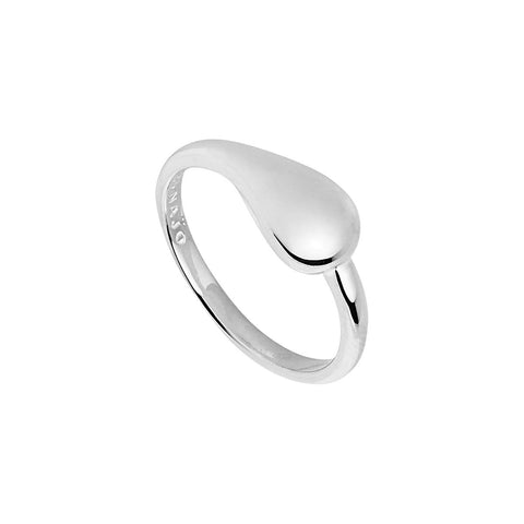 Najo - Weeping Widow Ring - 7mm Silver Tear Drop Band