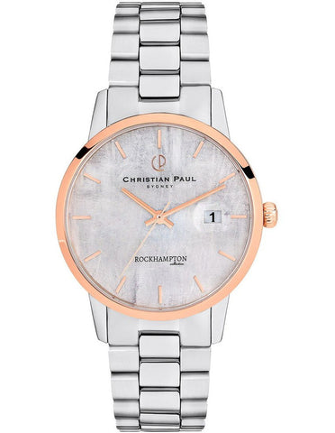 Christian Paul Rockhampton Limestone Silver Watch