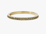 Meadowlark Sapphire Eternity Band - 9ct Gold & Green Sapphire