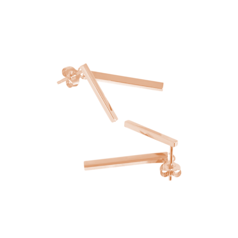 Republic Road Jacket Earrings - Rose Gold Plated