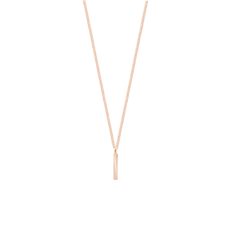 Republic Road Fine Line Necklace - Rose Gold Plated