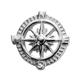 STOW Compass (Direction) Charm - Sterling Silver
