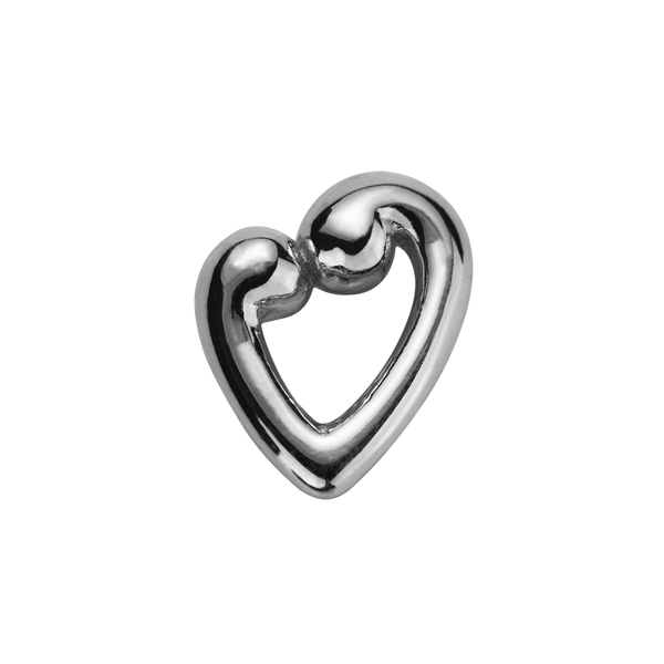 STOW Koru Heart (Compassion & Love) Charm - Sterling Silver
