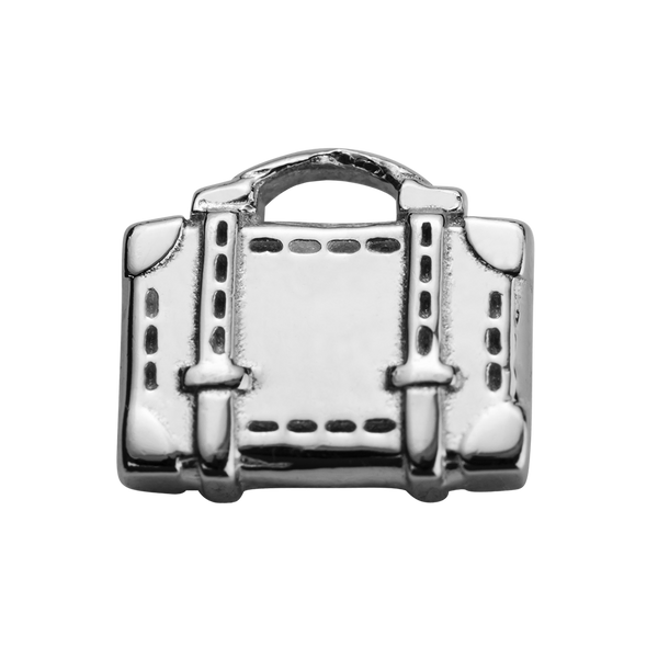STOW Suitcase (Safe Travels) Charm - Sterling Silver