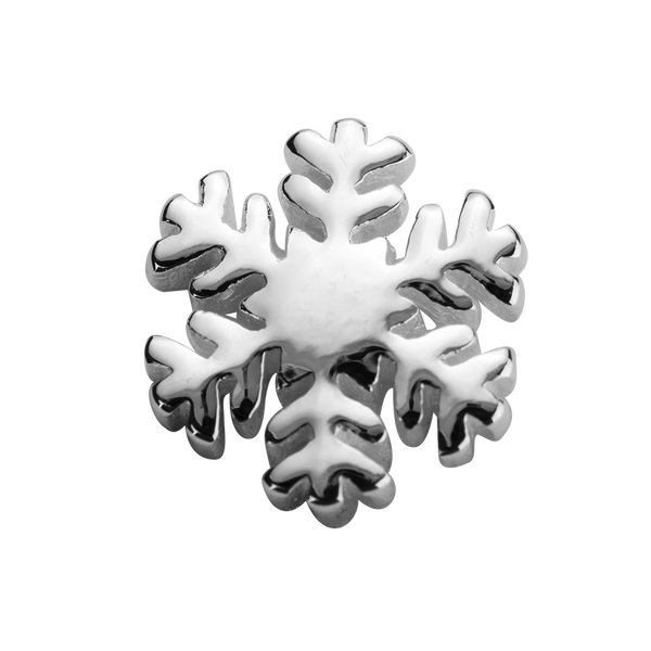 STOW Snowflake (Beautiful) Charm - Sterling Silver