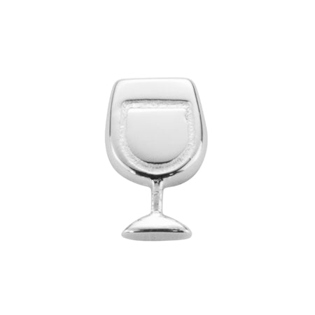 STOW Wine Glass (Celebrate) Charm - Silver