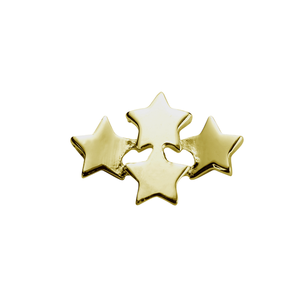 STOW Wishing Stars (My Dreams) Charm - 9ct Yellow Gold