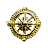 STOW Compass (Direction) Charm - 9ct Yellow Gold