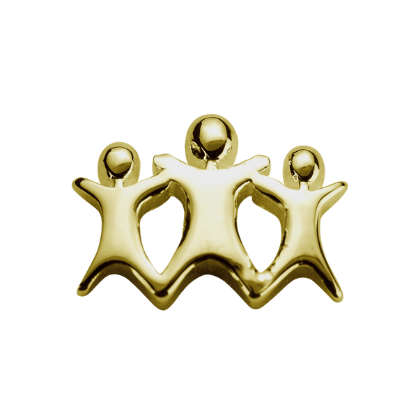 STOW Stowaways (My Family) Charm - 9ct Yellow Gold