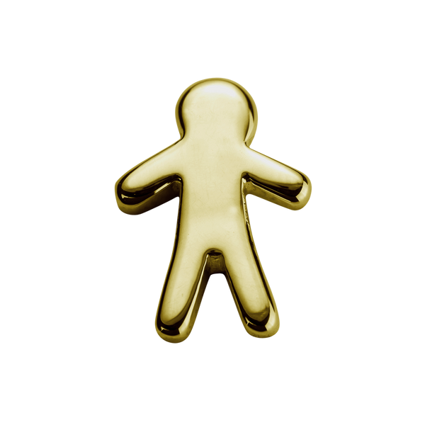 STOW Stowaway Boy (Heroic) Charm - 9ct Yellow Gold