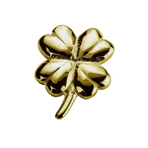 STOW Lucky Clover (Good Fortune) Charm - 9ct Yellow Gold