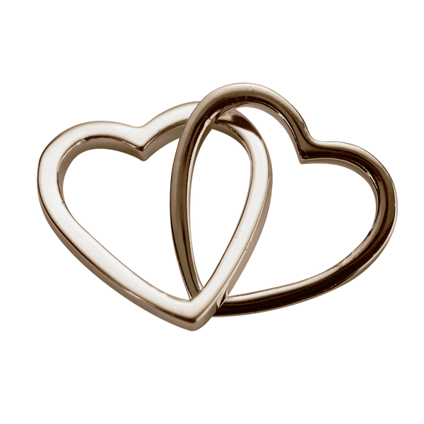 STOW Love Hearts (Together) Charm - 9ct Rose Gold