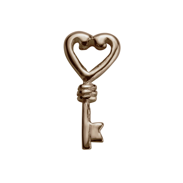 STOW Key (Treasured) Charm - 9ct Rose Gold